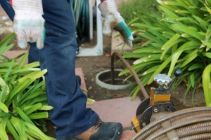cleaning of a Sewer Line Repair